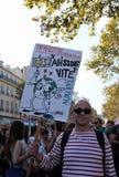Maart voor het klimaat - Ecologische demonstratie De Zaterdag van Parijs Frankrijk, 08 September, 2018 royalty-vrije stock afbeeldingen