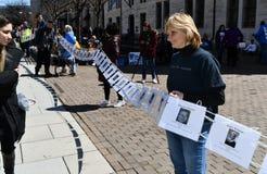 Maart voor Ons Leven op Maart, 24 in Washington, gelijkstroom royalty-vrije stock afbeeldingen