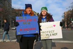 Maart voor Ons Leven protesteert 24, Washington, D C Stock Foto's