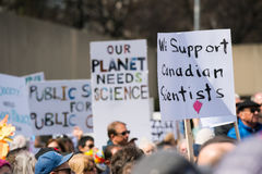 Maart voor Wetenschap in Toronto, Canada Royalty-vrije Stock Fotografie