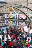 Maart voor Wetenschap in Toronto, Canada Stock Foto's