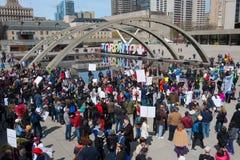 Maart voor Wetenschap in Toronto, Canada Royalty-vrije Stock Foto