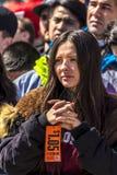 24 MAART, 2018: Washington, D C honderdduizendenprotest tegen NRI op de Weg van Pennsylvania , Protest stock afbeelding