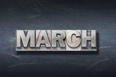 Maart-woordhol stock foto