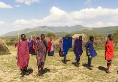 MAASAI人在肯尼亚 库存图片