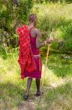 Maasai战士 免版税图库摄影