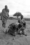 Maasai战士 免版税库存照片