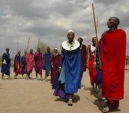 Maasai部落的人们 图库摄影