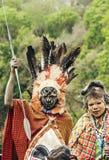 2 Maasai при его покрашенная сторона Стоковое Изображение RF