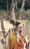 Maasai при его покрашенная сторона Стоковое Изображение RF