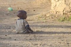 Maasai婴孩 免版税库存照片