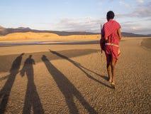 Maasai in Arusha royalty free stock image