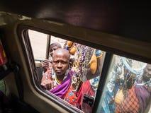 Maasai in Arusha royalty free stock photography