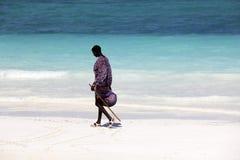 Maasai on the beach Stock Photography