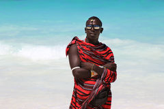 Maasai on the beach Stock Images