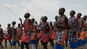 Maasai boys dancing at koiyaki guide school graduation day