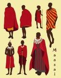 Maasai couple african people Stock Photos