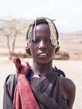 Maasai girl. Maasai young girl in Arusha region, Tanzania, Africa royalty free stock images