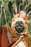Maasai with his face painted Stock Image