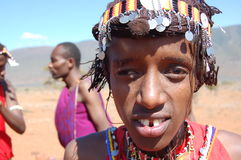 Maasai krigare Fotografering för Bildbyråer