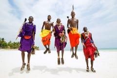 Maasai-Männer Stockfoto