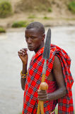 Maasai Man stock image