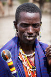 Maasai man portrait in Tanzania, Africa Royalty Free Stock Photo