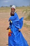 Maasai matka z Jej dzieckiem Obraz Stock