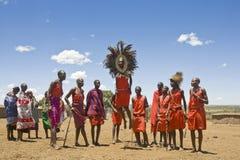 Free Maasai Men Jumping In A Group Dance Royalty Free Stock Image - 156821456