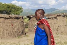 MAASAI-MENSEN IN KENIA stock afbeeldingen