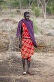 Maasai shephard. In traditional clothing, december 2010, bisil kenya Royalty Free Stock Photos