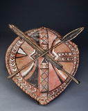 Maasai Spear Heads and Shield.. Stock Images