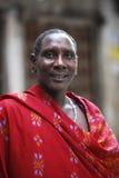 Maasai in Stoun-Stad Stock Foto's