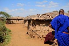 Maasai village, Kenya Stock Image