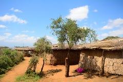 Maasai village, Kenya Royalty Free Stock Image