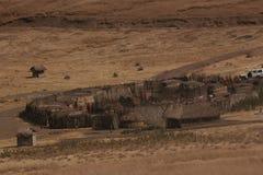 Maasai Villege Stock Photo