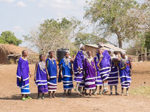Maasai w Tanzania Fotografia Royalty Free