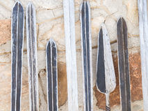 Maasai-Waffen Stockfotos