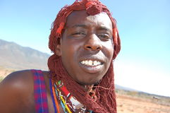 Maasai Warrior in Kenya Stock Images