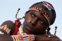 Maasai warrior in Loitoktok, Kenya. Stock Photography