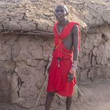 Maasai warrior Stock Photo