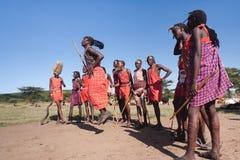 Maasai warriors Stock Photos