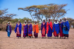 Maasai women in their village in Tanzania, Africa Stock Photos