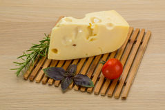 Maasdam cheese Royalty Free Stock Images