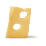 Maasdam Cheese On A White Background Stock Photos