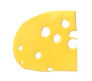 Maasdam cheese slice isolated Stock Photography