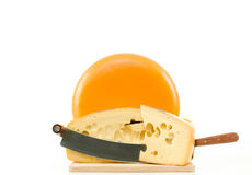 Maasdam Dutch cheese Royalty Free Stock Photo