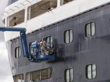 Maasdam för kryssningskepp underhåll Arkivbild