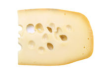 Maasdamer cheese isolated on white background Stock Images