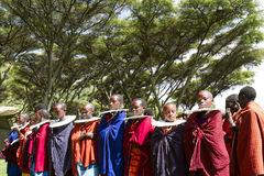 Maasi  girls in village ceremony, Ngorongoro Conservationa Area, Stock Photos